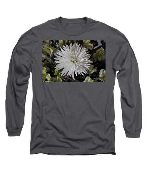 White Chrysanthemum Long Sleeve T-Shirt