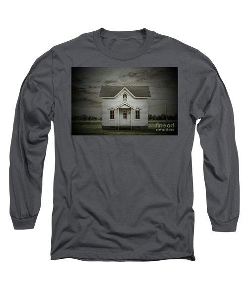 White Clapboard Long Sleeve T-Shirt