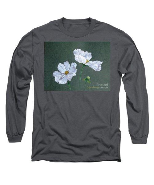 White Cosmos Long Sleeve T-Shirt