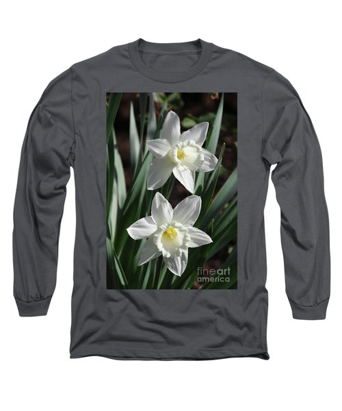 White Daffodils #2 Long Sleeve T-Shirt