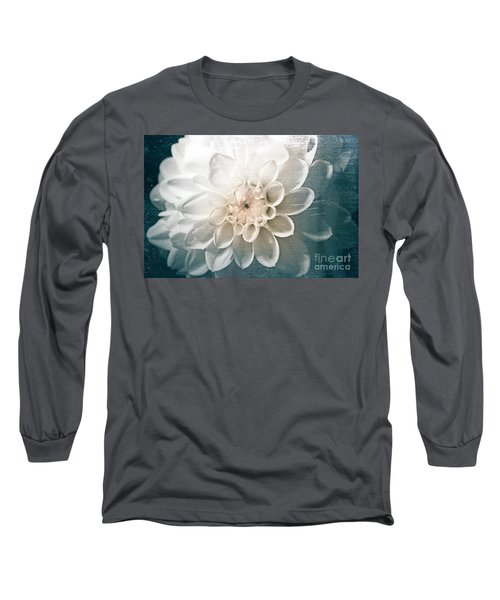 White Dahlia Long Sleeve T-Shirt