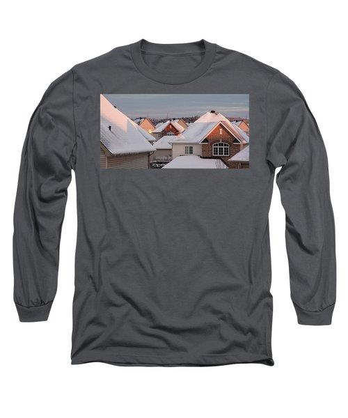 White December Rooftops Long Sleeve T-Shirt