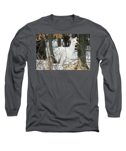 White Doe With Squash Long Sleeve T-Shirt by Brook Burling