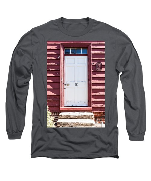 White Door And Peach Wall Long Sleeve T-Shirt