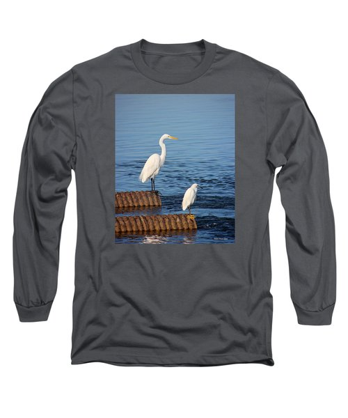 White Egrets Long Sleeve T-Shirt