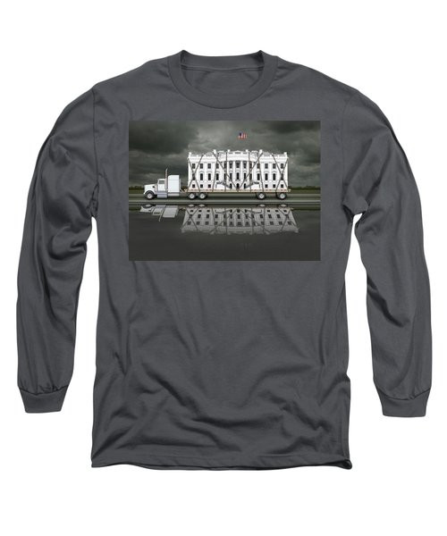White House Being Delivered Long Sleeve T-Shirt