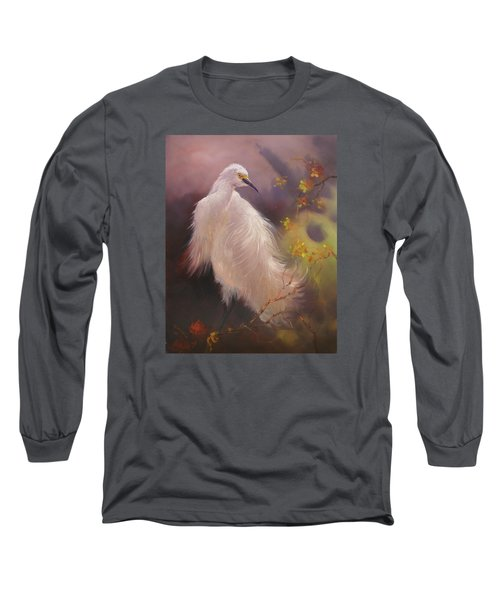 White Hunter Long Sleeve T-Shirt by Donelli  DiMaria