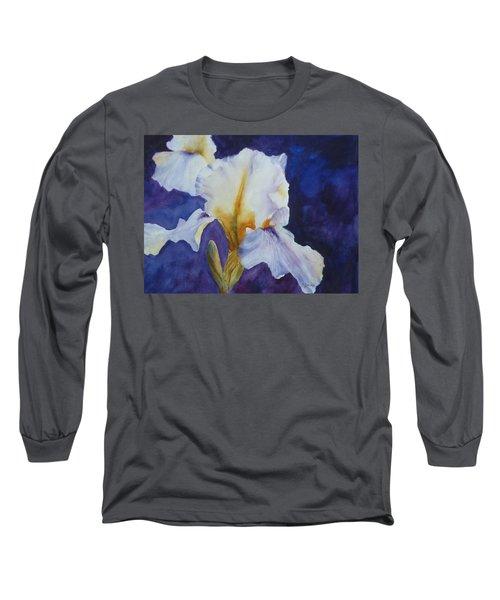 White Iris Long Sleeve T-Shirt