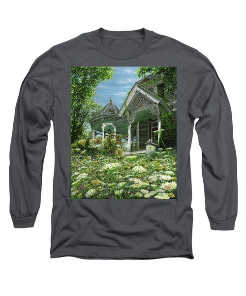 White Lace And Promises Abandoned Long Sleeve T-Shirt by Doug Kreuger