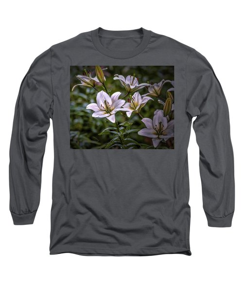 White Lilies #g5 Long Sleeve T-Shirt