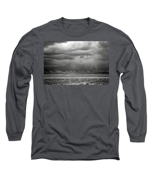 Long Sleeve T-Shirt featuring the photograph White Mountain by Lou Novick
