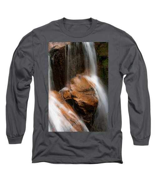Long Sleeve T-Shirt featuring the photograph White Mountains Waterfall by Jason Moynihan