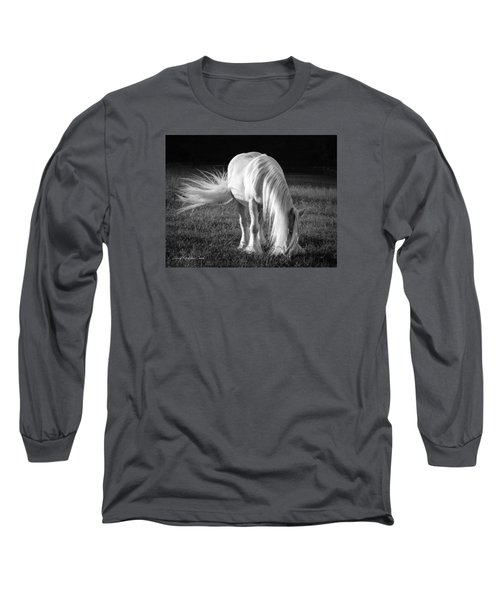 White On Black And White Long Sleeve T-Shirt