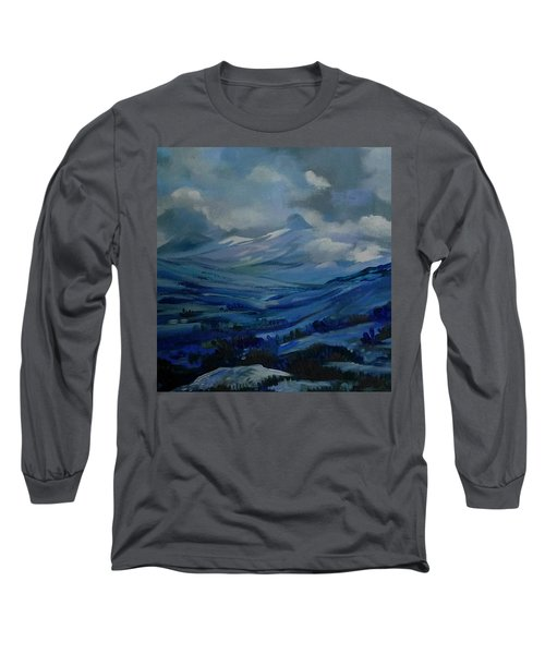 Long Sleeve T-Shirt featuring the painting White Pass by Anna  Duyunova