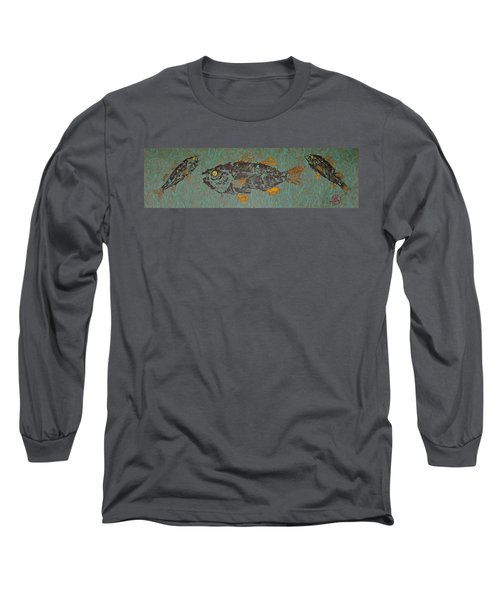 White  Perch With Yellow Perch Long Sleeve T-Shirt