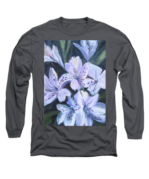 White Peruvian Lily Long Sleeve T-Shirt
