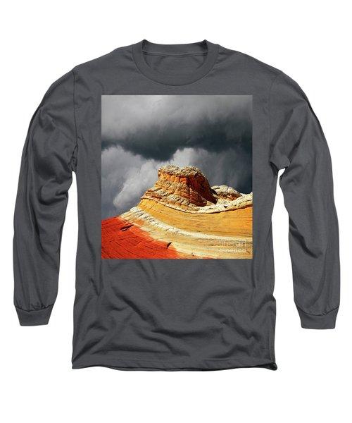 White Pocket 35 Long Sleeve T-Shirt by Bob Christopher
