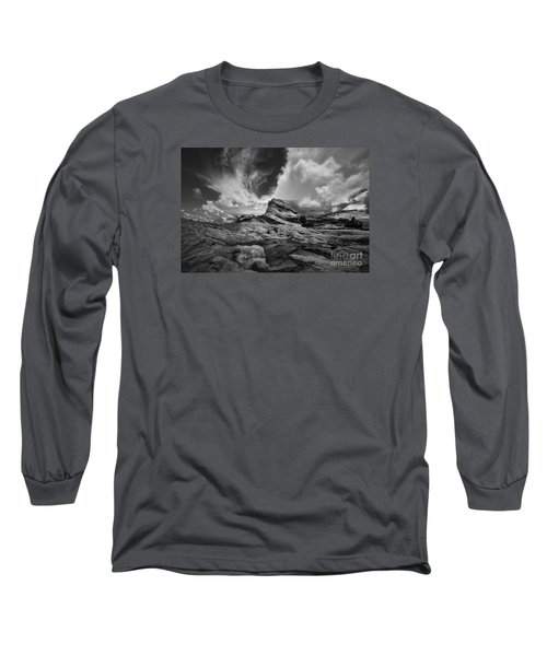 Long Sleeve T-Shirt featuring the photograph White Pocket - Black And White by Keith Kapple