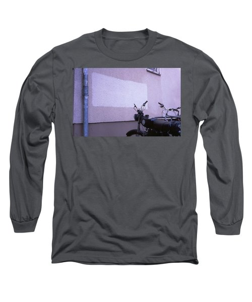 White Rectangle And Vintage Bikes Long Sleeve T-Shirt
