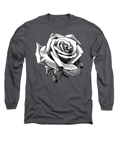 White Rose For The Lady Long Sleeve T-Shirt