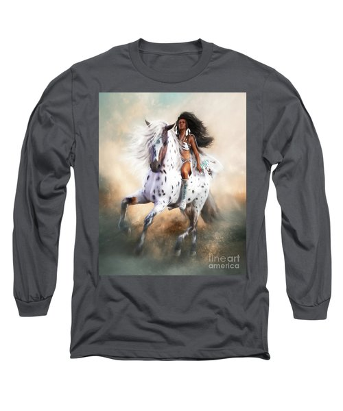 White Storm Long Sleeve T-Shirt by Shanina Conway