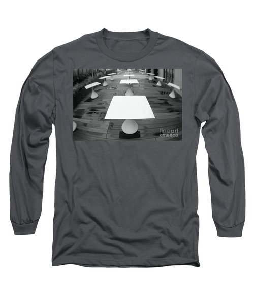 White Tables Long Sleeve T-Shirt