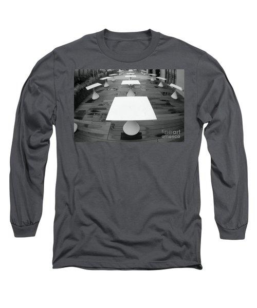 White Tables Long Sleeve T-Shirt