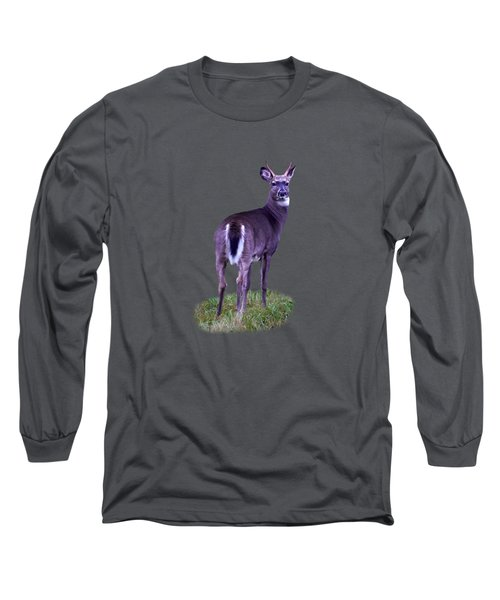 White Tail Transparent Long Sleeve T-Shirt