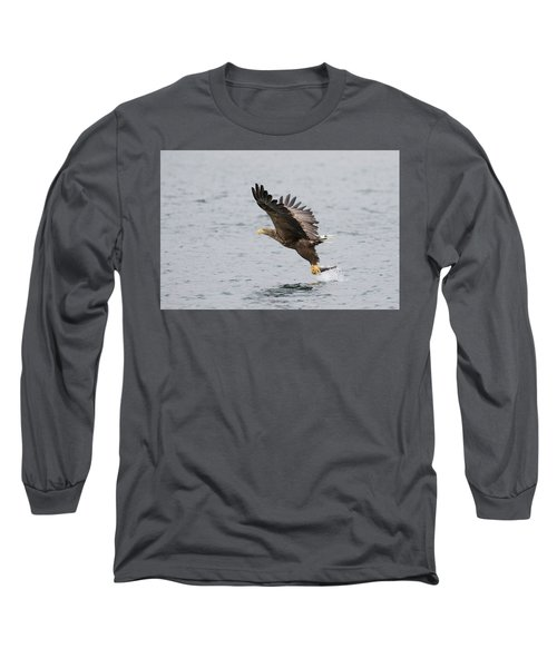 White-tailed Eagle Catching Dinner Long Sleeve T-Shirt