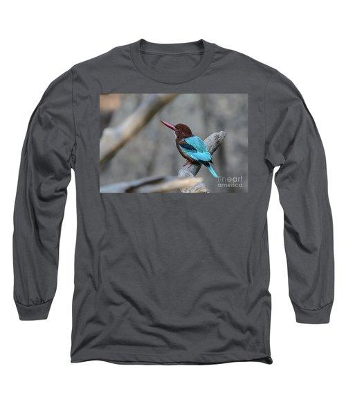 White-throated Kingfisher 02 Long Sleeve T-Shirt
