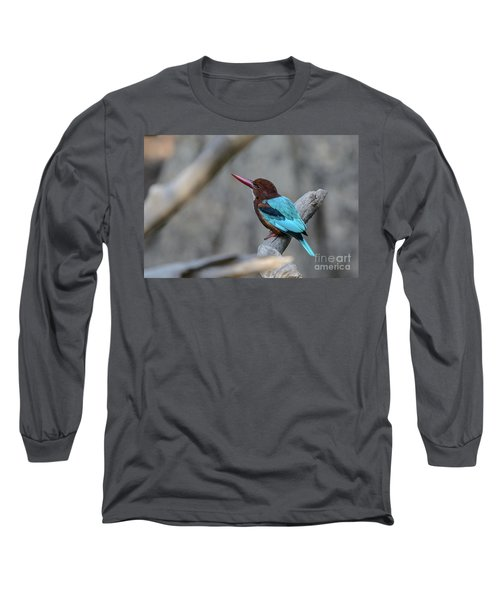 White-throated Kingfisher 02 Long Sleeve T-Shirt