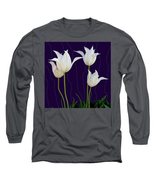 White Tulips For A New Age Long Sleeve T-Shirt