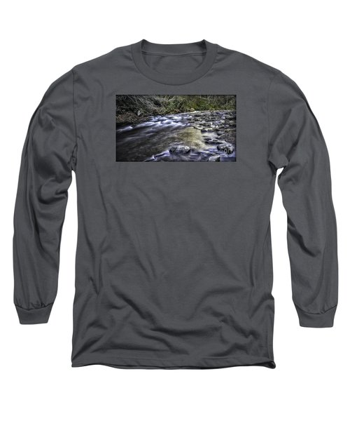 White Water Long Sleeve T-Shirt by Walt Foegelle