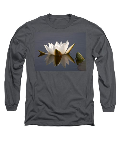 Long Sleeve T-Shirt featuring the photograph White Waterlily 2 by Jouko Lehto