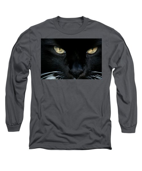 White Whiskers Long Sleeve T-Shirt
