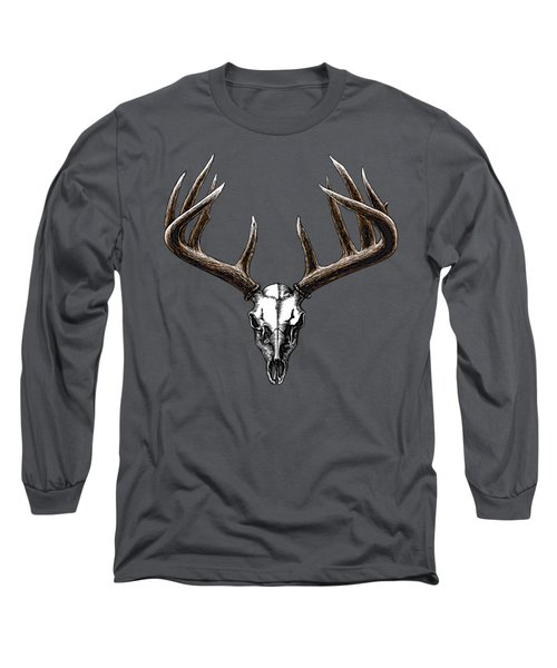 Whitetail Skull Long Sleeve T-Shirt