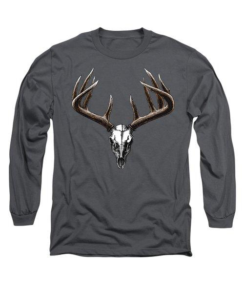 Whitetail Skull Long Sleeve T-Shirt