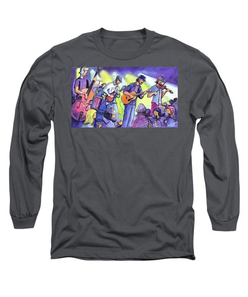 Long Sleeve T-Shirt featuring the painting Whitewater Ramble At The Barkley Ballroom by David Sockrider