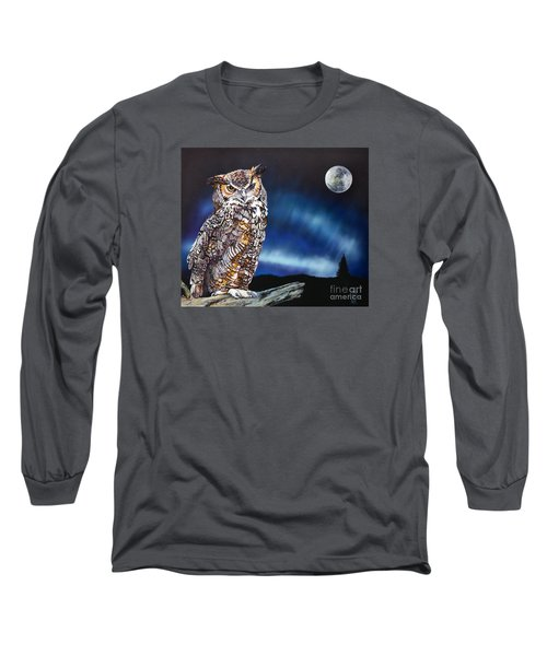 Who Doesn't Love The Night Long Sleeve T-Shirt by J W Baker
