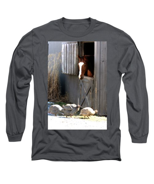 Why Did The Guinea Hen Cross The Road Long Sleeve T-Shirt