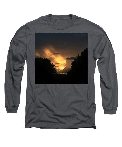 Wicked Sky Long Sleeve T-Shirt by Audrey Robillard