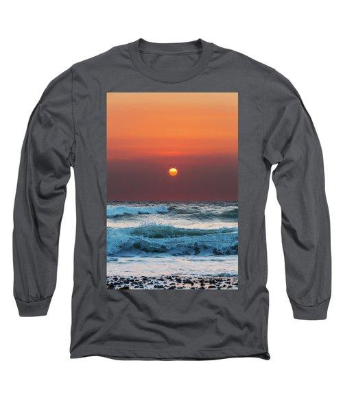 Widemouth Sunset, Cornwall Long Sleeve T-Shirt