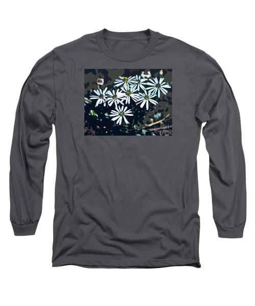Long Sleeve T-Shirt featuring the photograph Wild Daisy Art  by Juls Adams