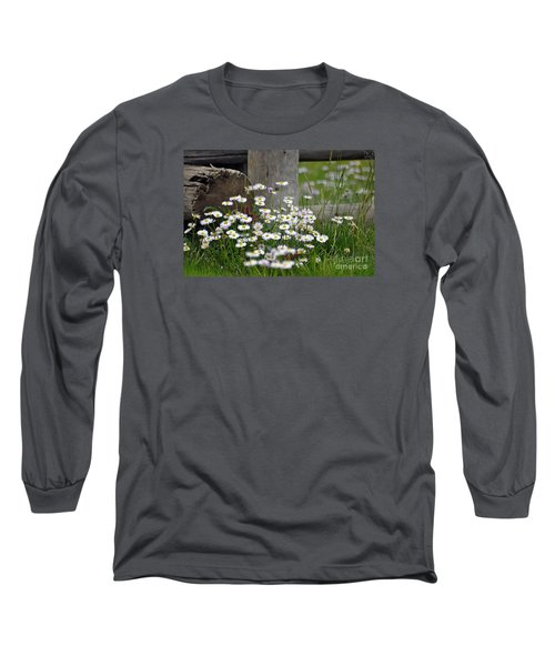 Long Sleeve T-Shirt featuring the photograph Wild Flowers  by Juls Adams