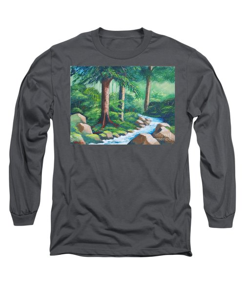 Wild Forest River Long Sleeve T-Shirt