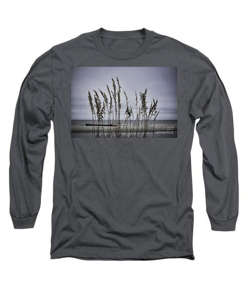 Wild Grasses Long Sleeve T-Shirt by Judy Wolinsky