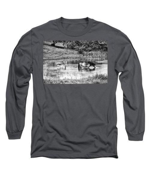 Wild Horses Bw2 Long Sleeve T-Shirt