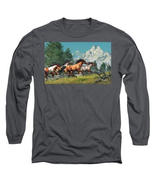 Wild Horses Long Sleeve T-Shirt