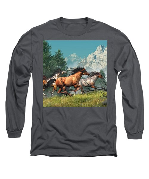 Wild Horses Long Sleeve T-Shirt