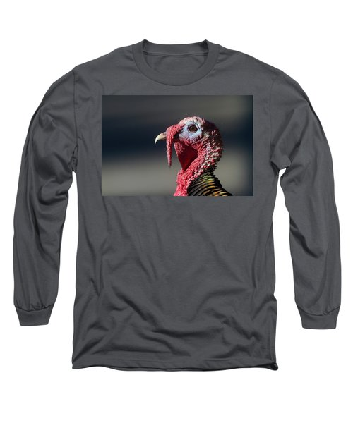 Wild Merriams Turkey Portrait  Long Sleeve T-Shirt